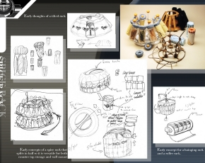 Spice rack design sketches