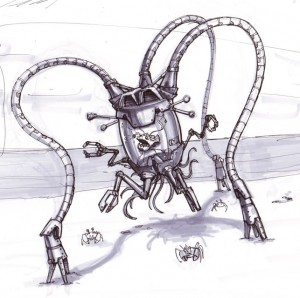 Concept art for ocean robot