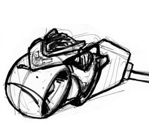 Tron Light cycle sketch 2