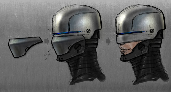 Robot Face Concept Art